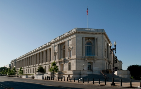 View of the Cannon House Office Building.