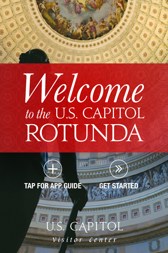 Screenshot from the U.S. Capitol rotunda mobile app.