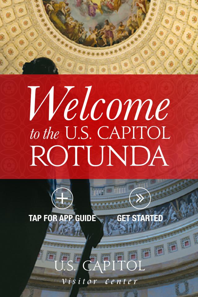 Screenshot from the U.S. Capitol rotunda mobile app.