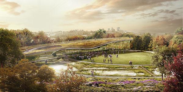 Waterfront Botanical Gardens, Kentucky, part of the 2019 showcase exhibit at the U.S. Botanic Garden.
