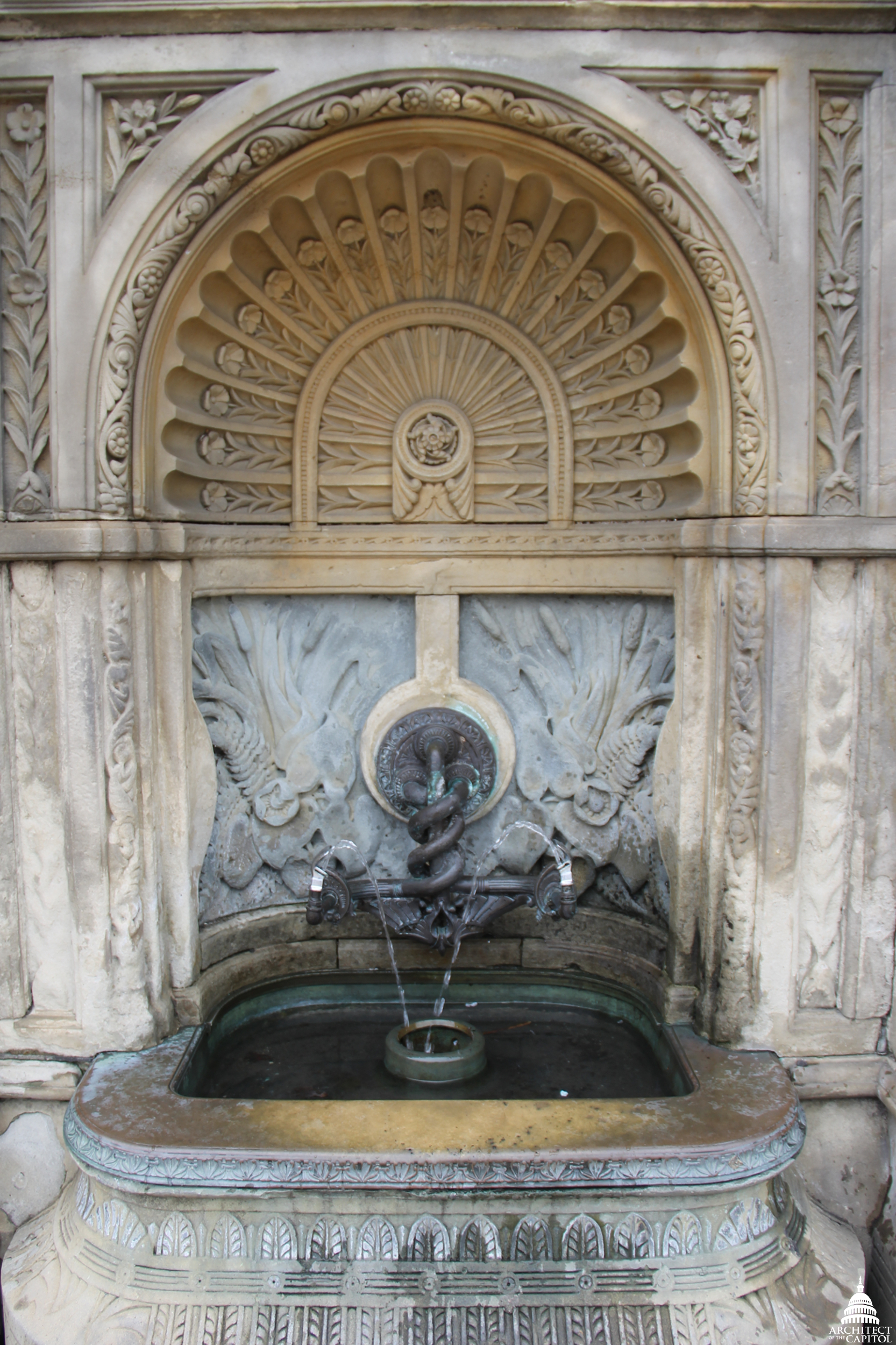 The Olmsted terrace drinking fountain.