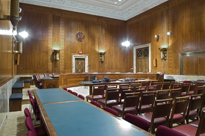 Dirksen Building committee room.