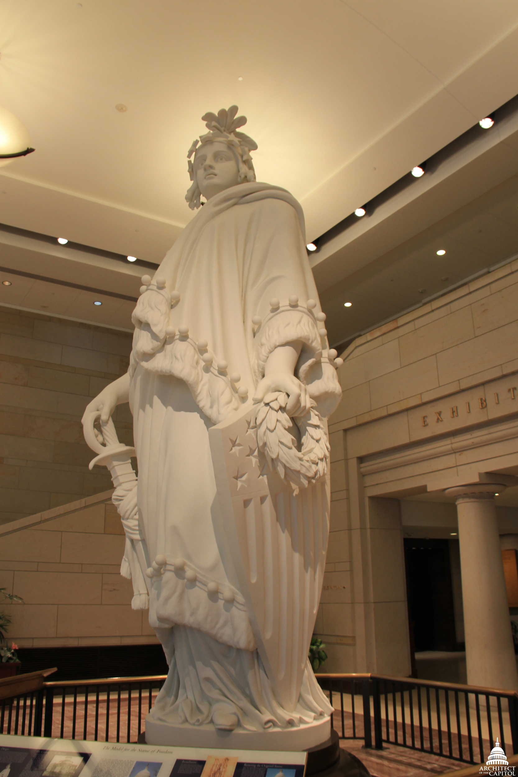 Plaster model of the Statue of Freedom in the Capitol Visitor Center.