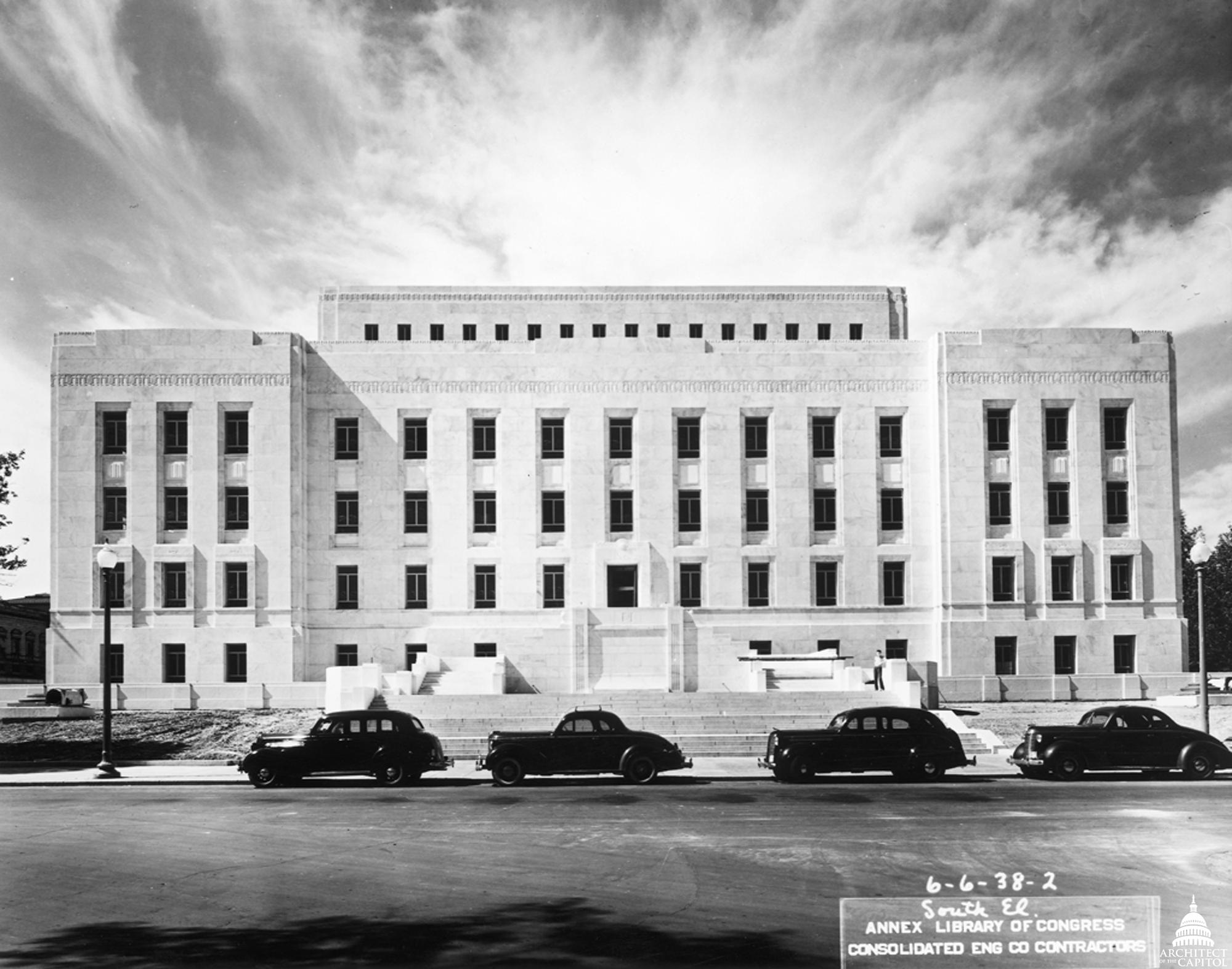 Adams Building Construction, South Elevation 1938