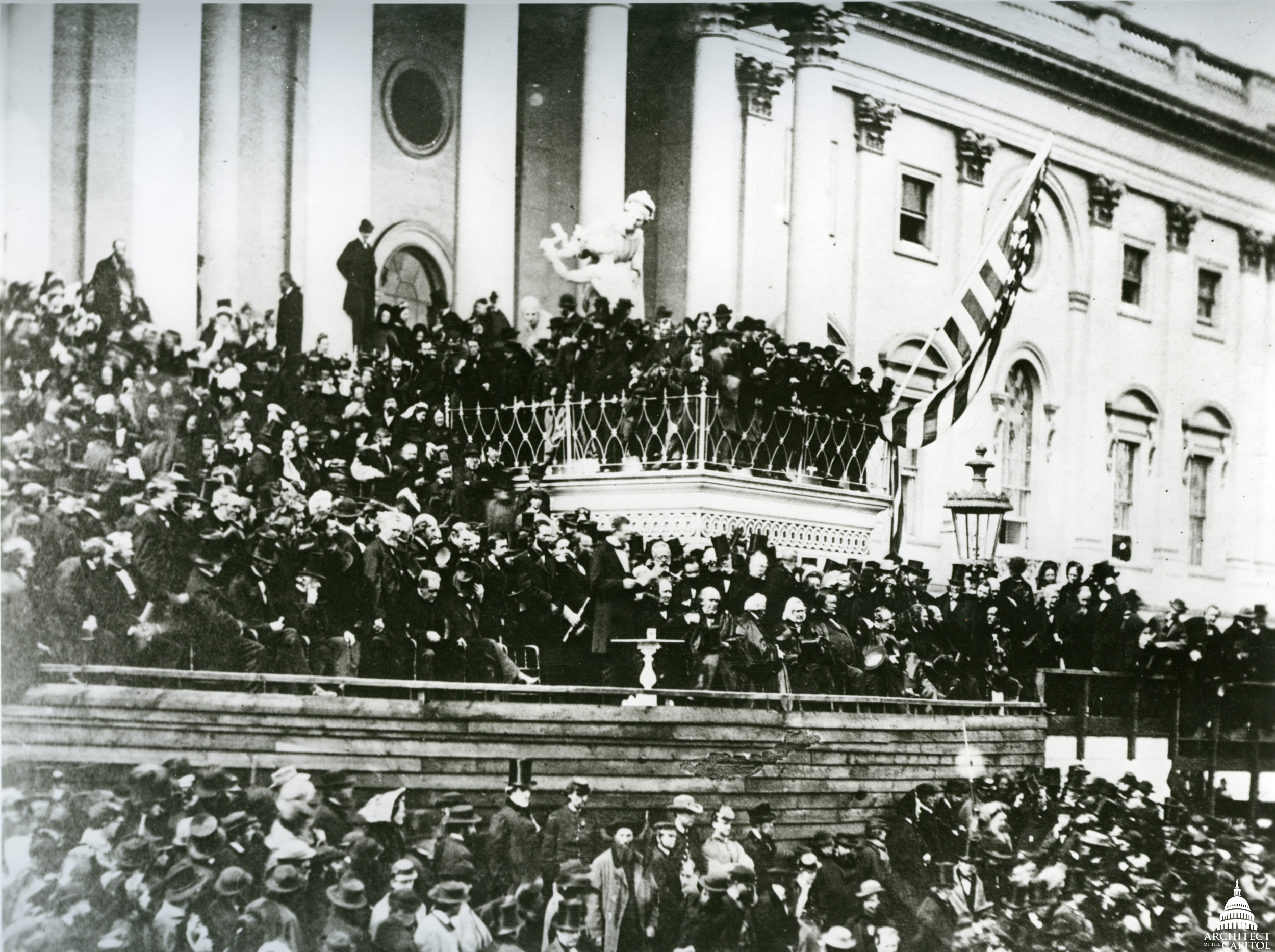 President Abraham Lincoln's inauguration at the U.S. Capitol 1865.