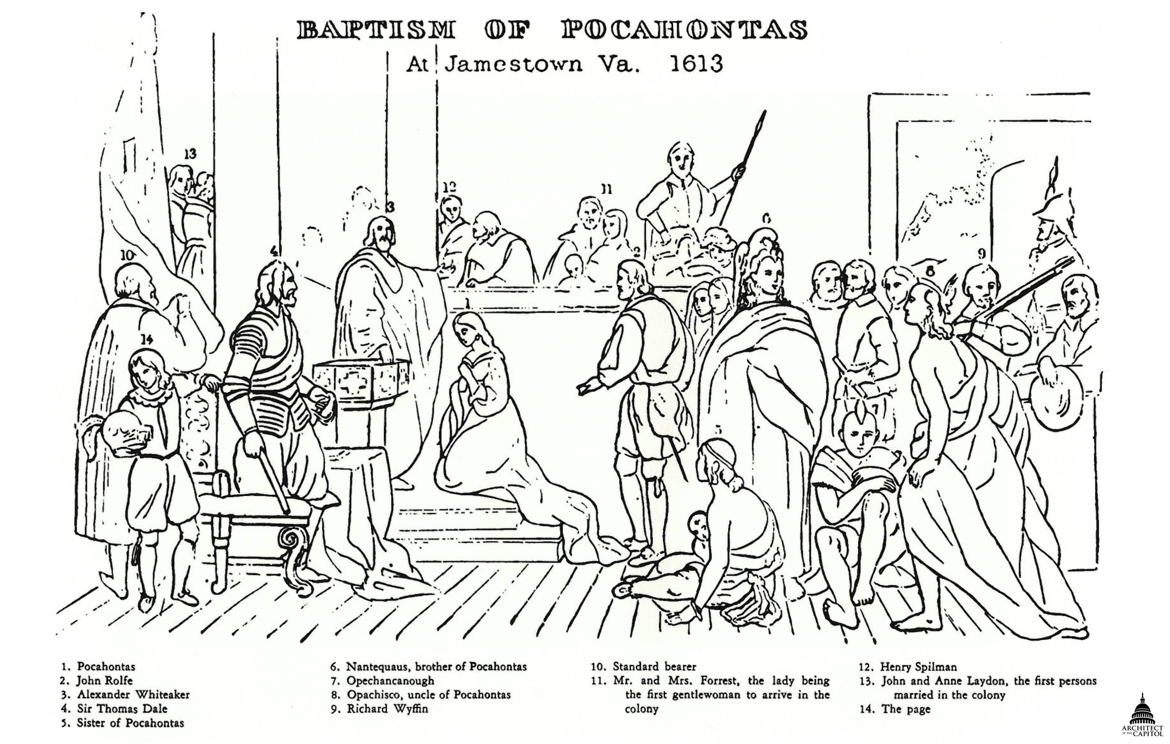 Baptism of Pocahontas | Architect of the Capitol