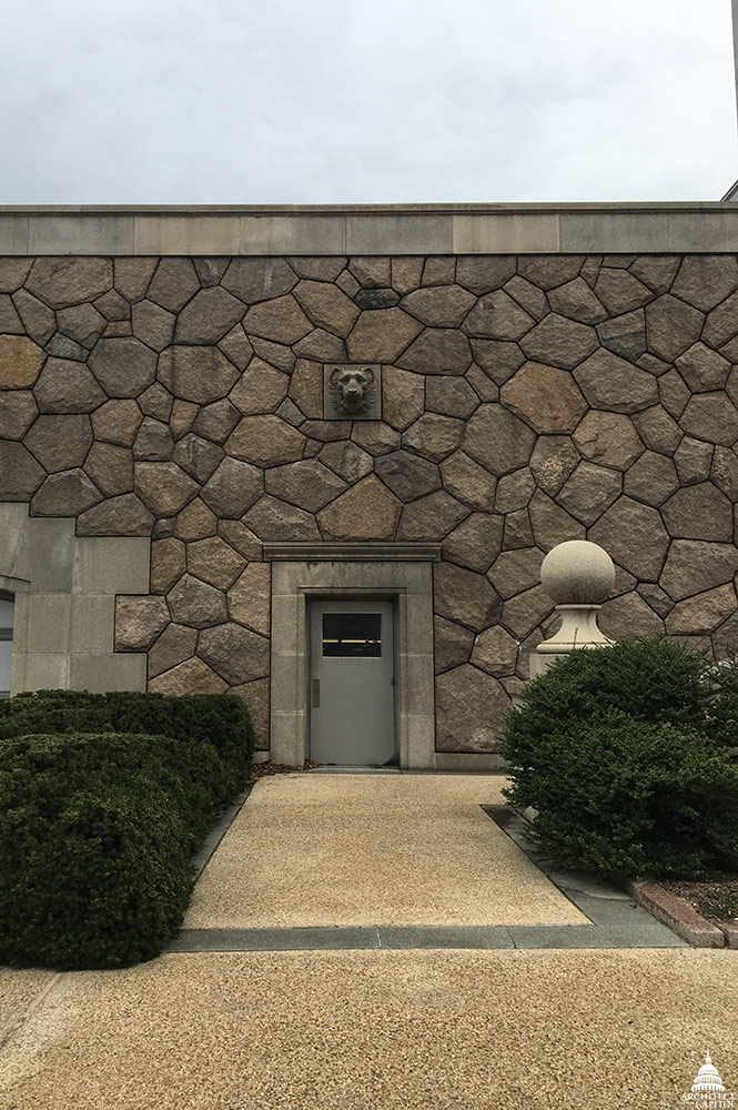 Rayburn House Office Building garage entrance.