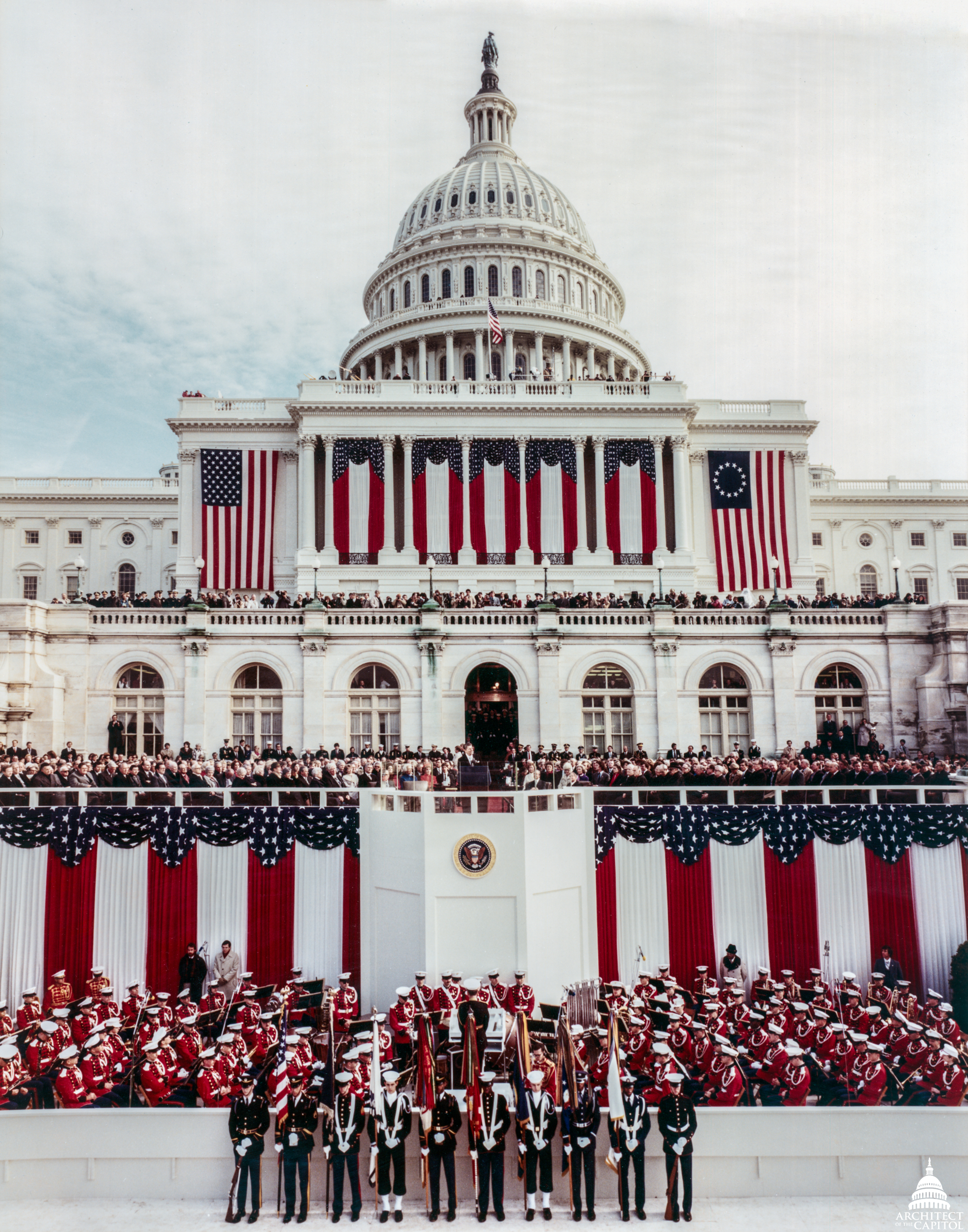 President Ronald Reagan's inauguration at the U.S. Capitol 1981.