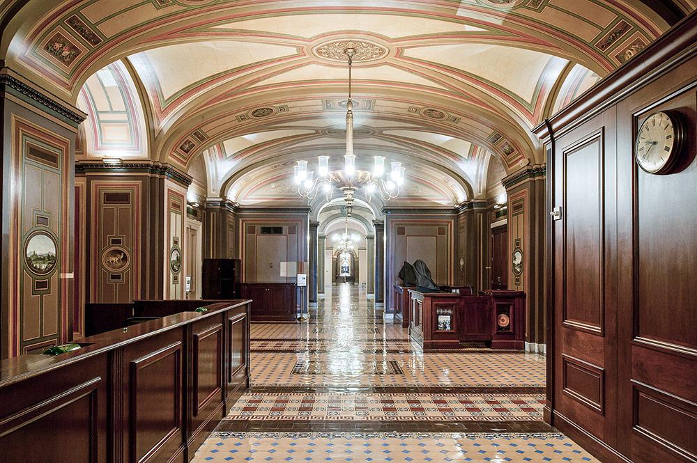 The Reception Area of the Brumidi Corridors.