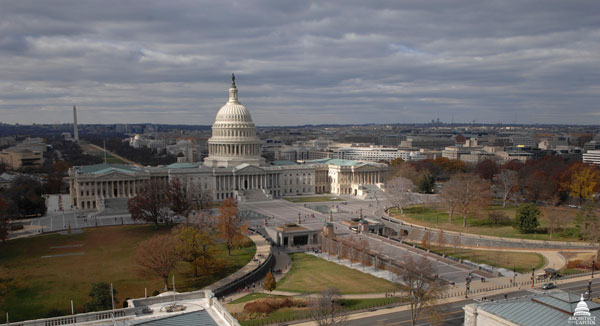 View of the East Front of the U.S. Capitol during fall 2012.