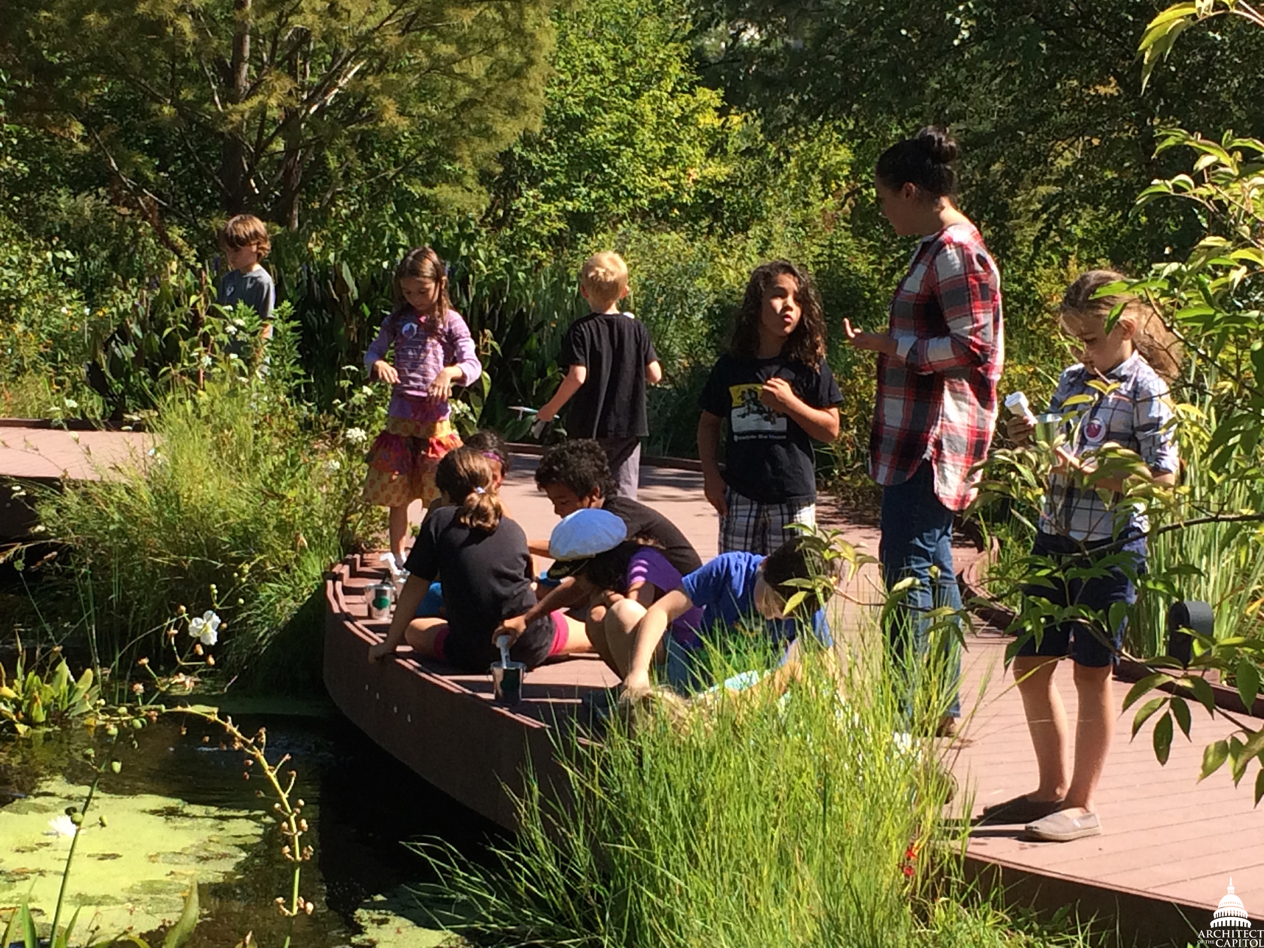 The National Garden serves as a living classroom for children, students and visitors of all ages.
