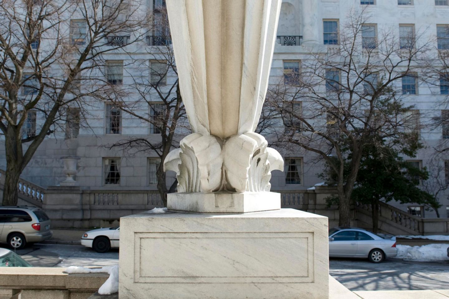 View of a rhyton horn at the Rayburn House Office Building in Washington, D.C.
