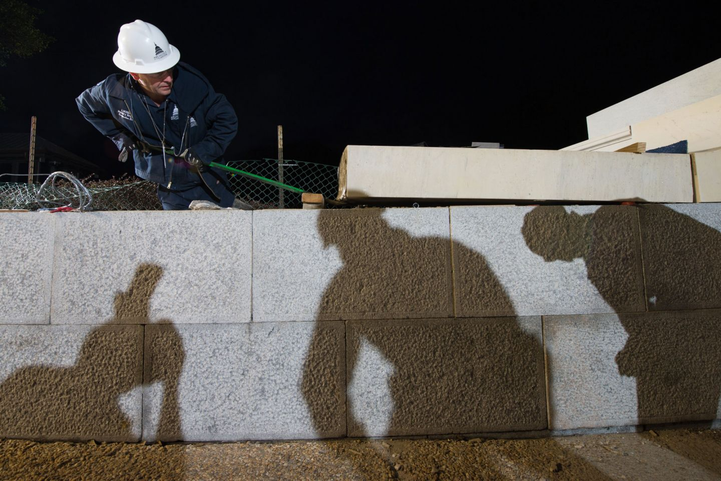 Preservation work on the U.S. Capitol's Olmsted Terrace.