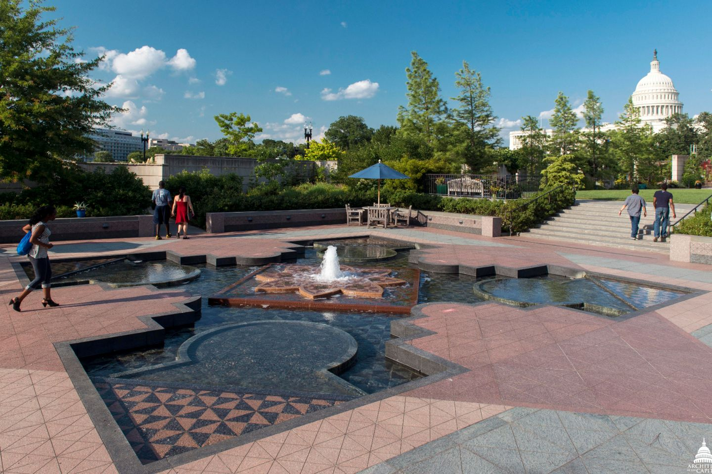 The First Ladies Water Garden honors the contributions of our nation's First Ladies.