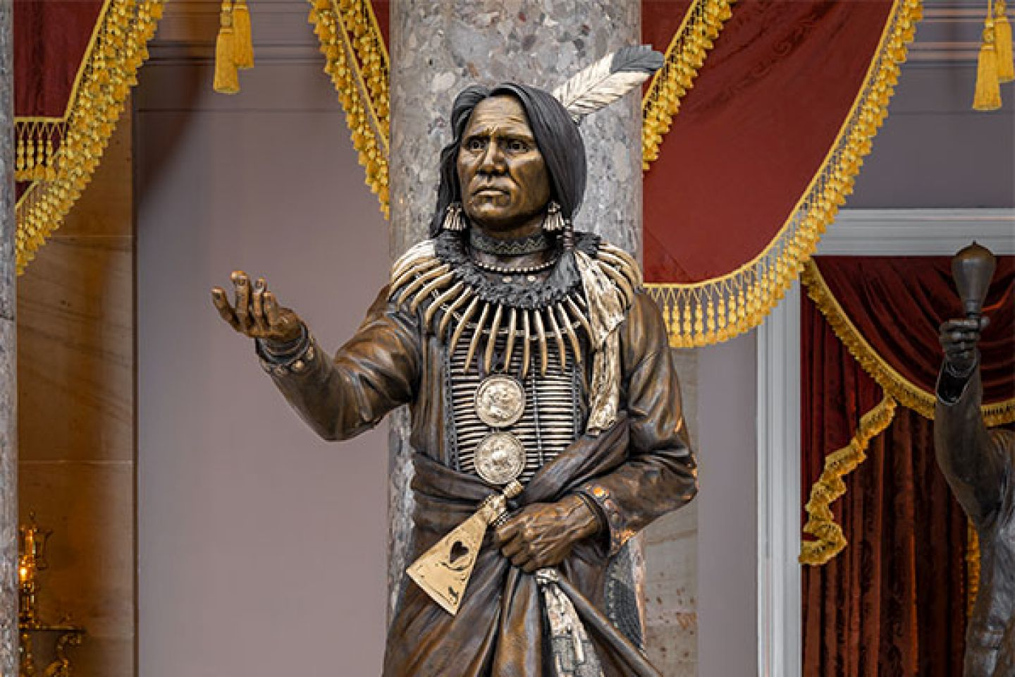 This statue of Standing Bear was given to the U.S. Capitol's National Statuary Hall Collection by Nebraska in 2019.