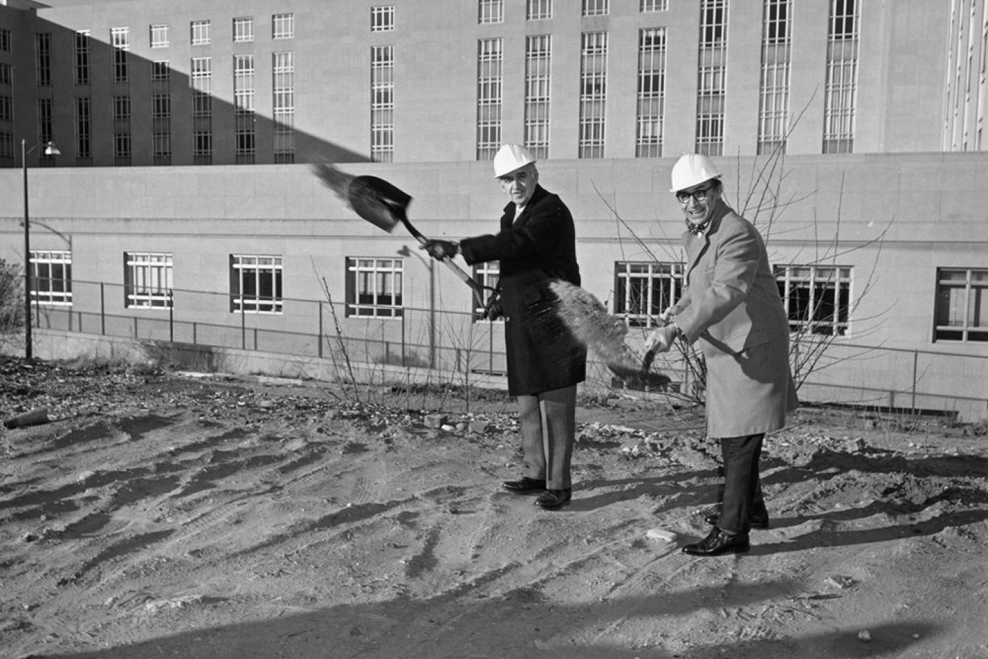 Groundbreaking at the Hart Senate Office Building.