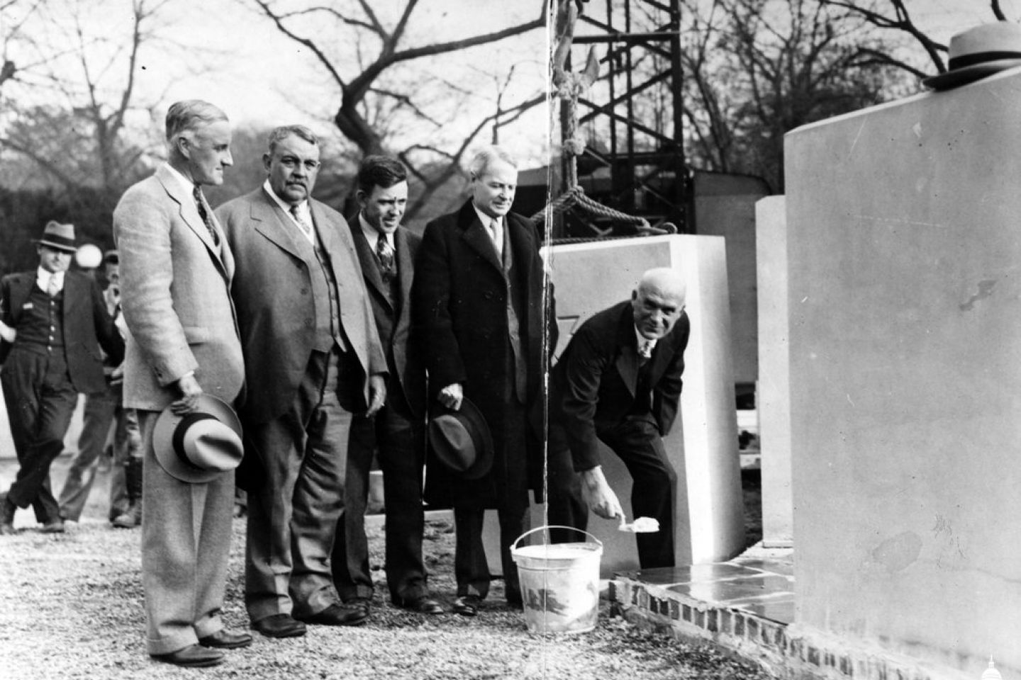 Laying of the USBG Conservatory cornerstone, November 12, 1931.