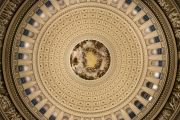Looking straight up in the U.S. Capitol Rotunda.