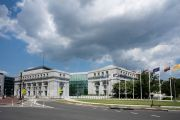 Exterior view of the Thurgood Marshall Federal Judiciary Building in Washington, DC.