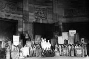 The Portrait Monument unveiling ceremony was held in the Capitol Rotunda on February 15, 1921.