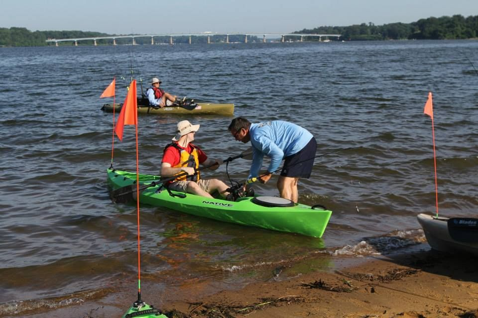 Blanchet assists with a launch, Jonas Green State Park, Annapolis, Maryland
