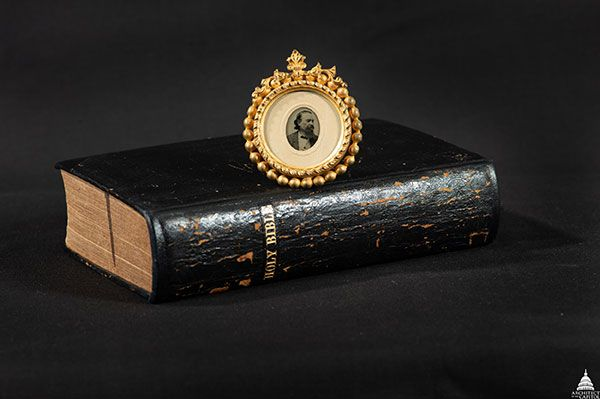 This Bible once belonged to Constantino Brumidi.