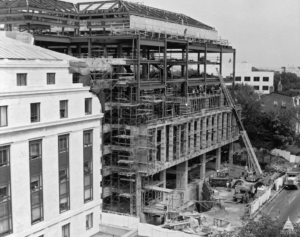 Construction of the Hart Senate Office Building in August 1979.