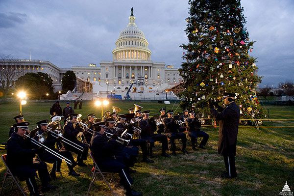 Band playing during the 2008 U.S. Capitol Christmas Tree lighting ceremony.