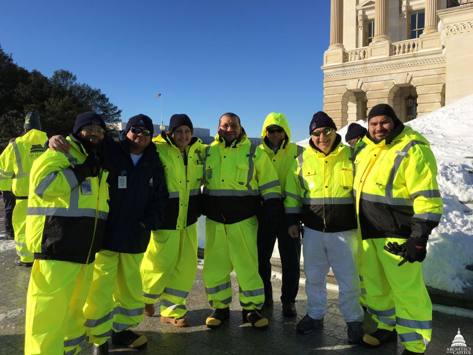 Part of the AOC snow removal team after 2016's Winter Storm Jonas.