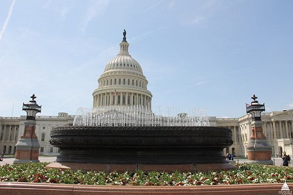 An Olmsted fountain on the East Front of the U.S. Capitol.