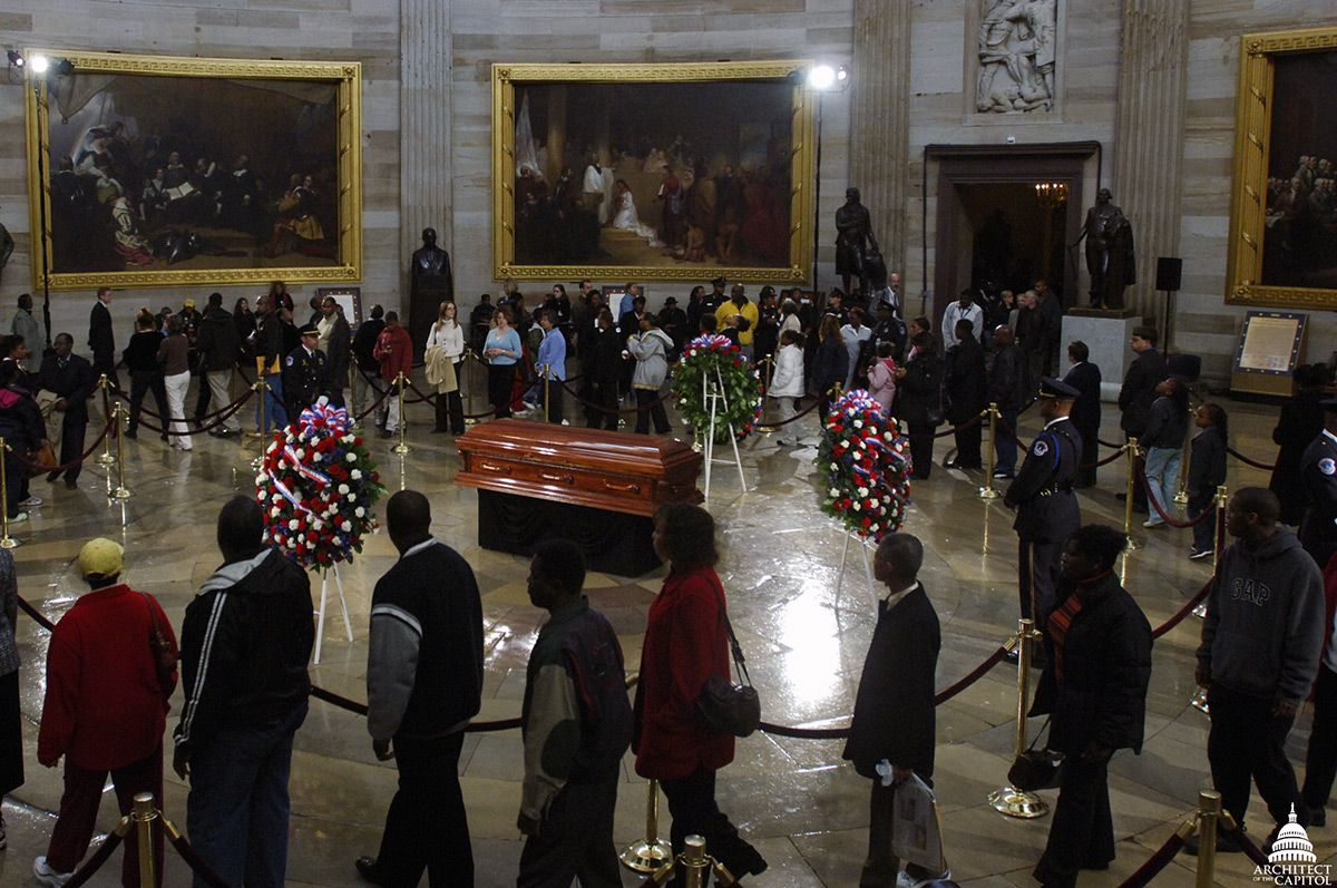 Rosa Parks lay in honor in Capitol Rotunda October 30-31, 2005.