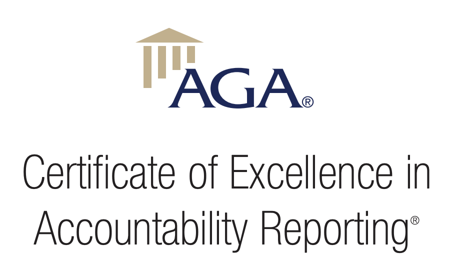 AGA Certificate of Excellence in Accountability Reporting