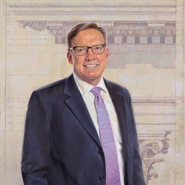 Official painted portrait of 11th Architect of the Capitol Stephen T. Ayers.