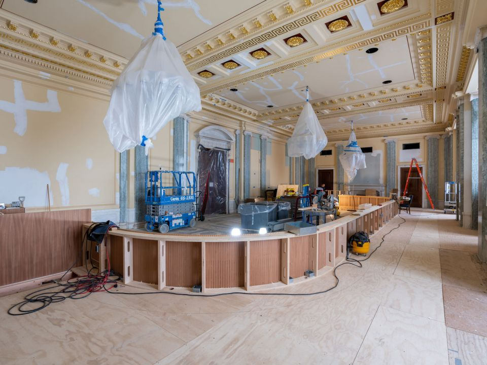Before and After: Hearing Room Renovation for the Senate Committee on Commerce, Science and Transportation | Architect of the Capitol