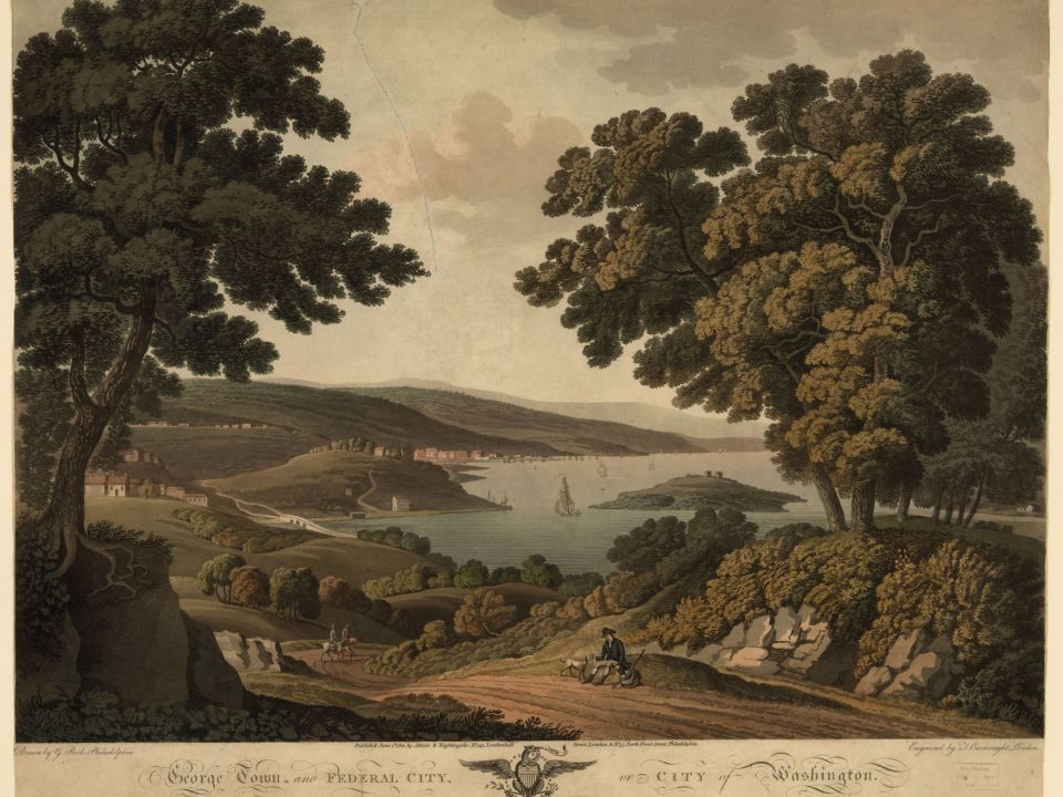 Georgetown view in 1801.