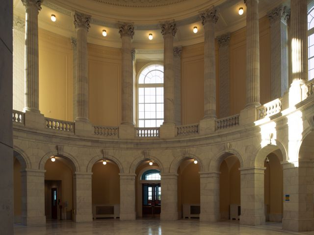 The Cannon House Office Building's historic rotunda.