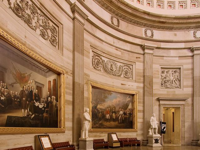 Capitol Rotunda interior paintings