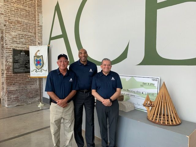 The AOC team at the American College of the Building Arts (ACBA): Mike Miller, John McPhaul and Marvin Cortez.