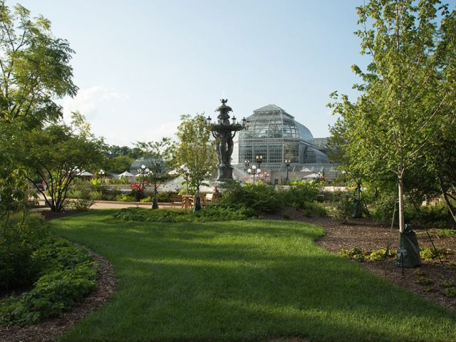 A view of the renovated Bartholdi Park.
