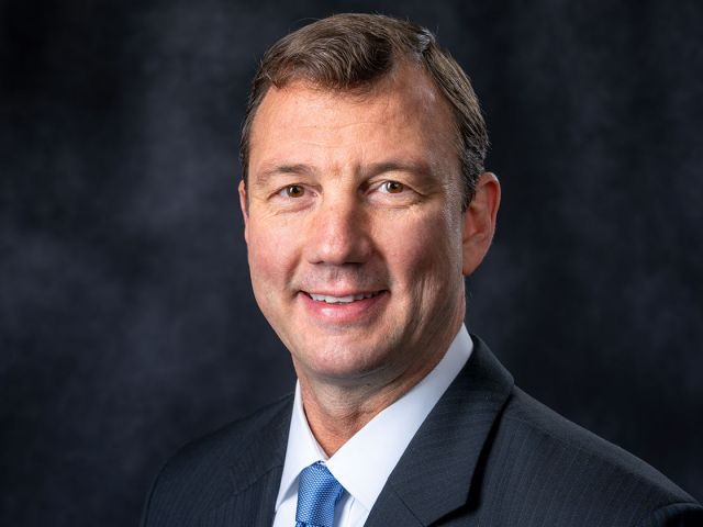 Official portrait of 12th Architect of the Capitol J. Brett Blanton.