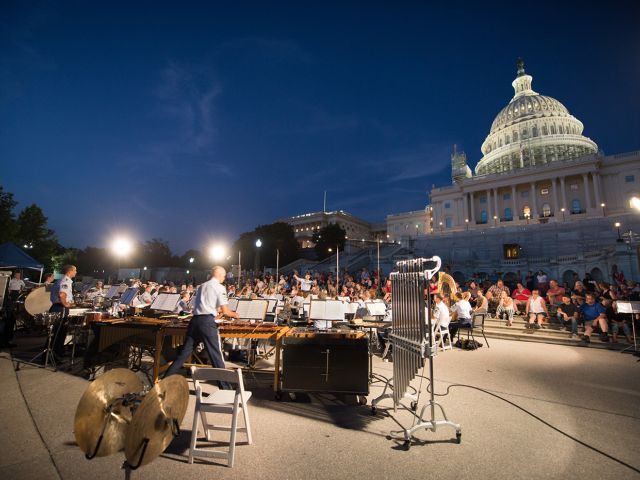 United States Air Force concert on the Capitol's West Front steps in 2016.