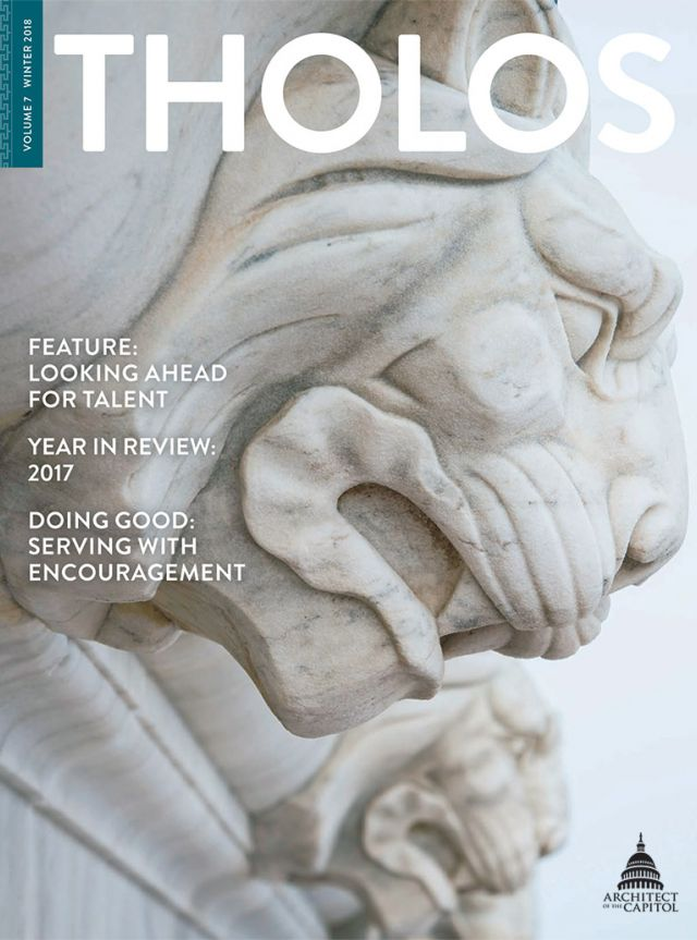 Tholos Magazine cover, Volume 7 Winter 2018.