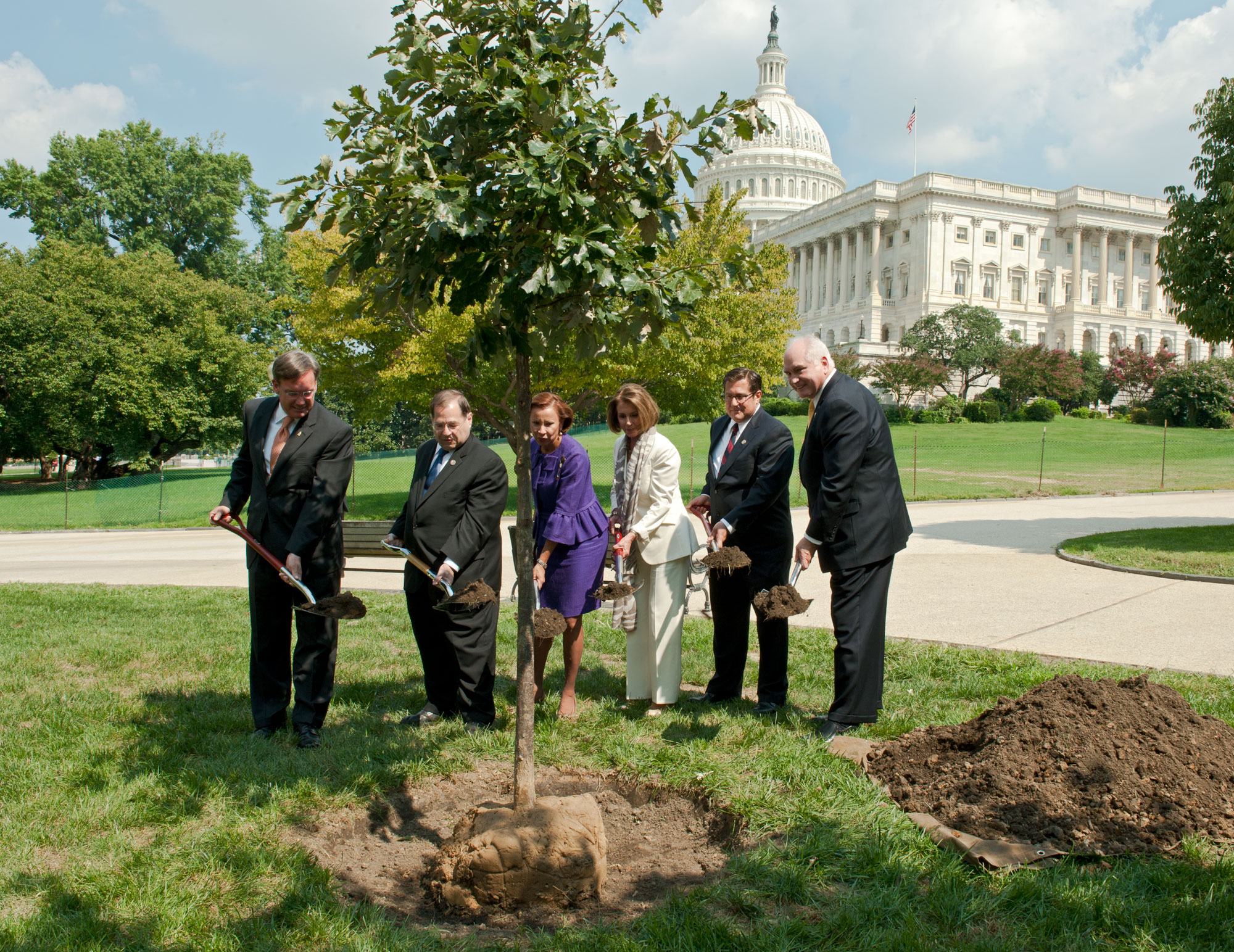 Tree planting ceremony for the 9/11 Anniversary tree.