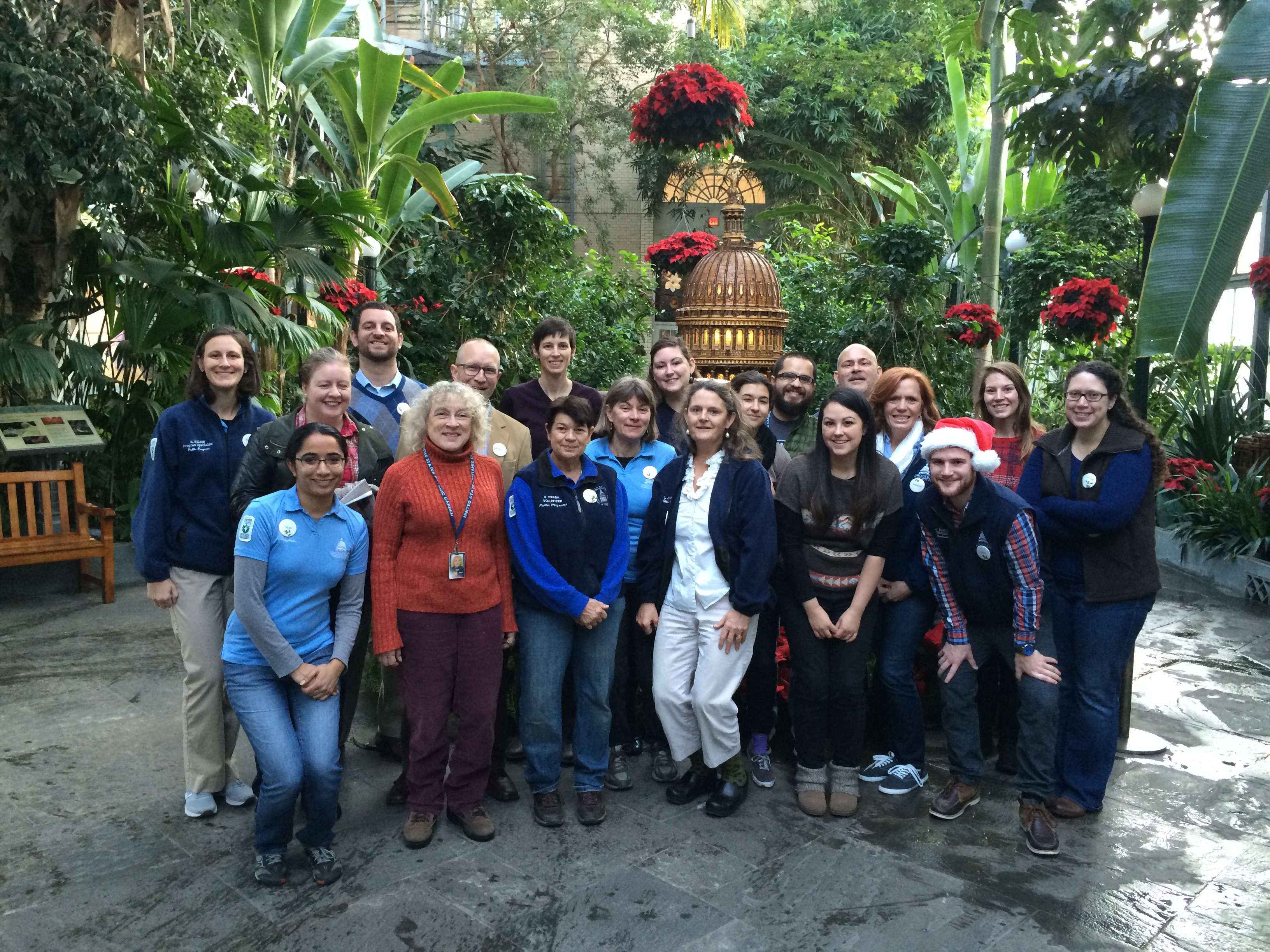 Photo of staff and volunteers from the U.S. Botanic Garden.