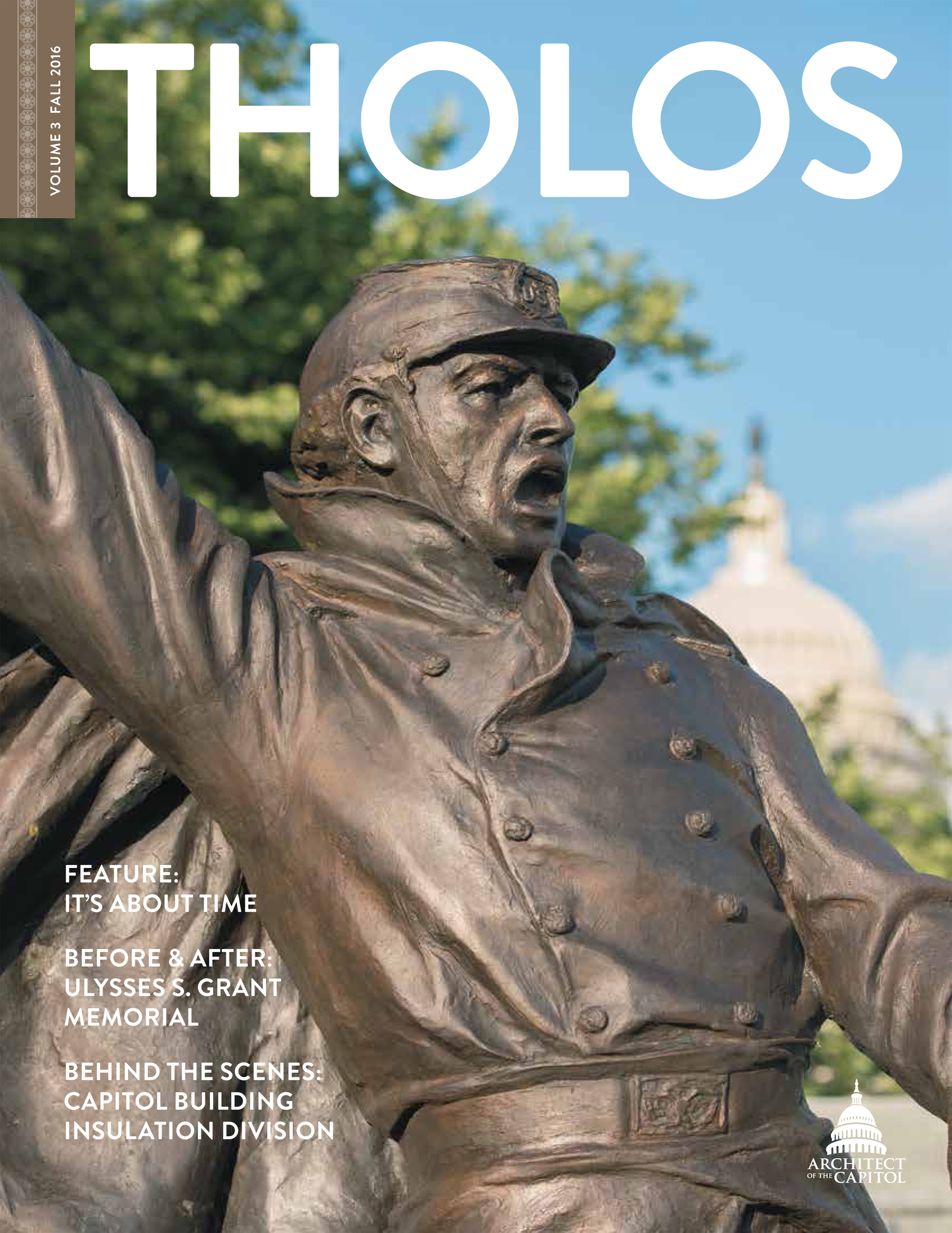 Tholos Magazine cover, Volume 3 Fall 2016.