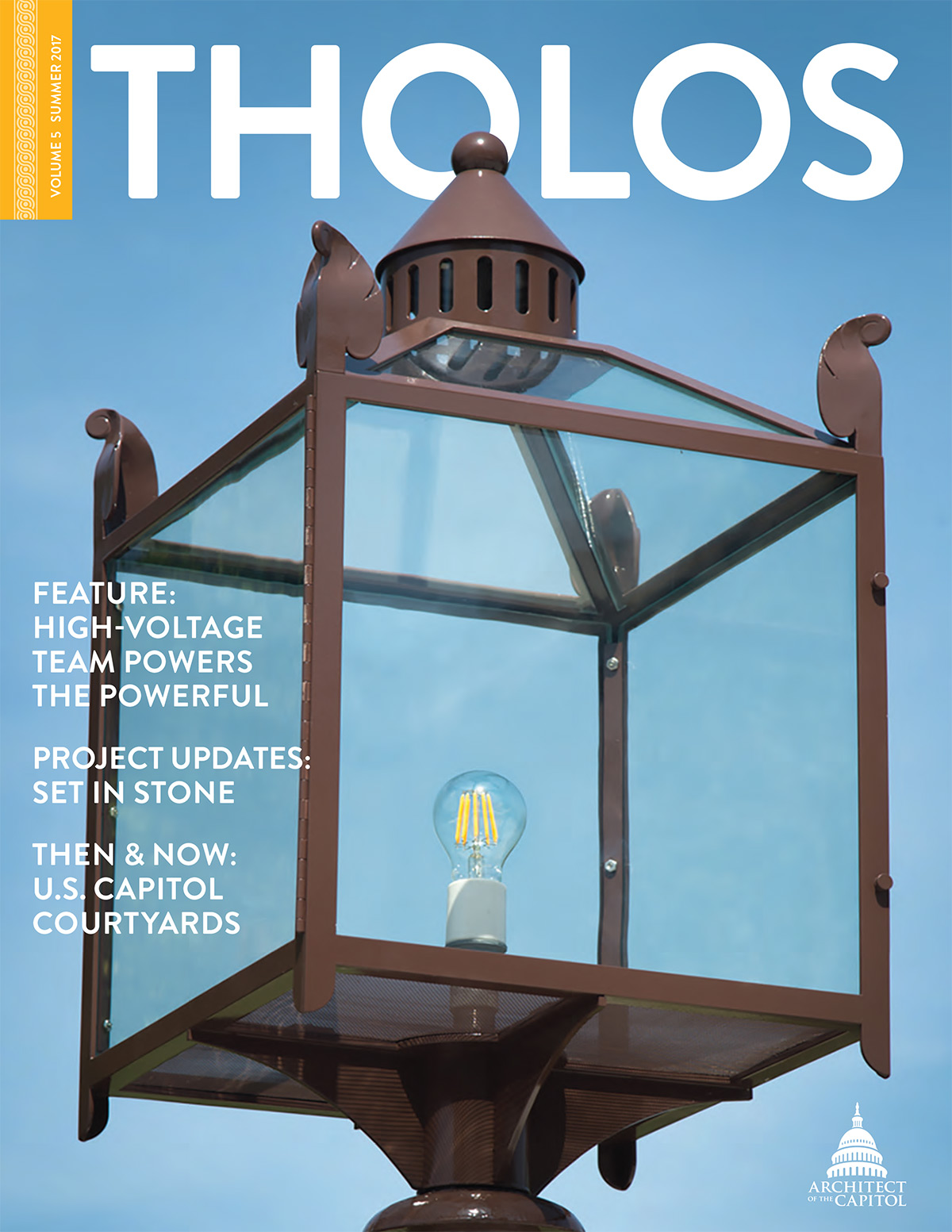 Tholos Magazine cover, Volume 5 Summer 2017.