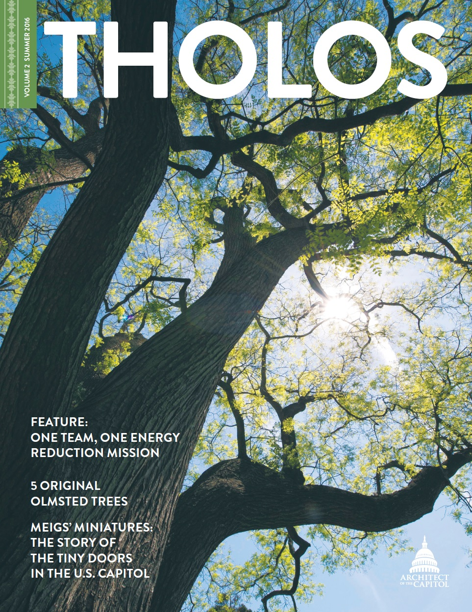Tholos Magazine cover, Volume 2 Summer 2016.